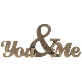 You & Me Chunky Wood Phrase